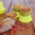 Muffin con farina di riso e succo di melograno