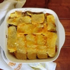 Lasagna di polenta con crema di zucca e funghi