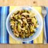Insalata di pollo, zucchine e gran moravia