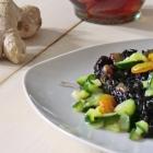 Riso venere con zucchine e gamberetti al profumo di zafferano