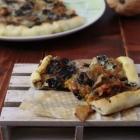 Torta salata con zucca, radicchio e gorgonzola