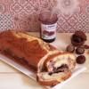 Plumcake marmorizzato con marmellata