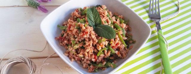 insalata-farro-tonno-fagiolini-pomodori-secchi